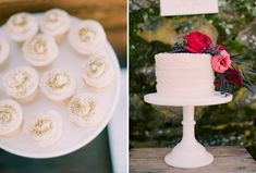 @Eva Lagudi-Devereux could you do edible gold glitter on the cake similar to these cupcakes?