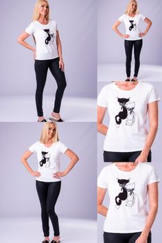 Limited edition fun tshirts with a cat theme in M and L