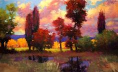 Cottonwoods by Teresa Saia Pastel ~ 24 x 36