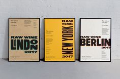 Poster Design Inspiration – Raw Wine by The Counter Press, United Kingdom