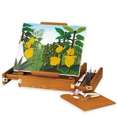 """The Met Store -  Tabletop Easel It's listed under """"MetKids"""". Good for any artist on the go I'd think"""