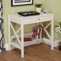 """$118  30wx20dx30h  Simple Living Antique White X Desk  30"""" wide"""