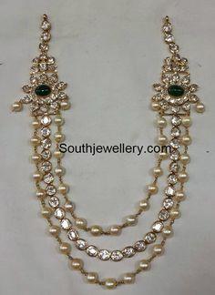 South Sea Pearls Flat Diamonds Necklace