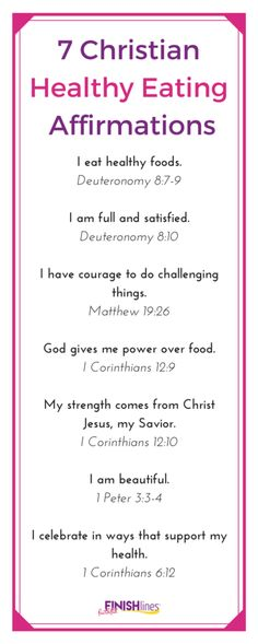 7 Christian Healthy Eating Affirmations|Bible Verse|Healthy Life|Quote|Motivation