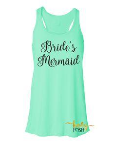 Bride's Mermaid Flowy Tank Top- Bridesmaid Tank- Bacheloretty Party- Mermaid Wedding Party Tanks- Bride Tank- Bride's Mates- Bridal Party Tank Top-