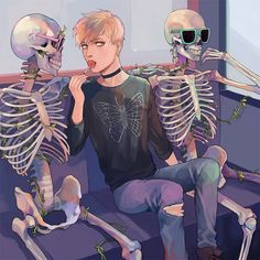 """kelpls: """" necromancer hanging out w some skeletons bc it is THAT TIME OF THE YEAR AGAIN """""""