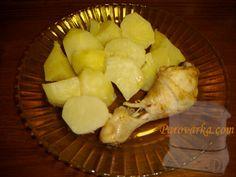 Куриные голени с картофелем в пароварке
