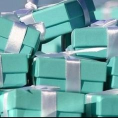 Tiffany party favor boxes