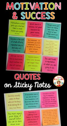 STICK IT AND MAKE IT STICK! Are you looking for unique ways to boost your students' motivation? These motivation and success sticky notes quotes can be used as part of your growth mindset activities or your regular classroom routine. With teacher tips included, you'll find a variety of easy ways to utilize these positive messages for students!