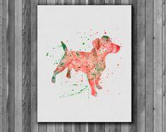 Dog watercolor Jack Russell Terrier  Art by digitalaquamarine