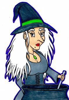 Desenho do Dia #106 - Bruxa - Soraia Casal