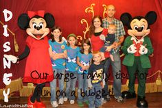 Disney Tips--How a large family on a budget can still enjoy the magic of Disney!