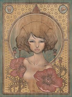 "New work by Audrey Kawasaki.    (For the group show, ""In the Wake of Dreams"" at Thinkspace Gallery in Culver City, CA opening this Saturday, October 8th.)"