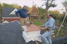 How to install a cupola and weathervane #diy