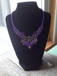 Micro Macrame necklace Custom order Elven by creationsmariposa