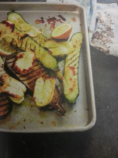 Grilled Vegetables with Halloumi.