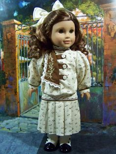 Dress for Rebecca, 1914, made by MyOwnLittleWorldToo. Sold Oct. 2009. Again, based on a dress from Sears Roebuck.