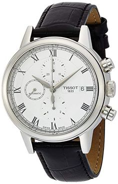 fb5106afe3b Tissot Carson White Dial SS Leather Automatic Men s Watch T0854271601300  Review Relógios Masculino De Couro
