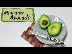 Easy Miniature Avocado - Polymer Clay Tutorial - YouTube