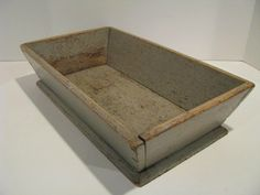 SM ANTIQUE APPLE TRAY, APPLE BOX OR CUTLERY TRAY, OLD GRAY PAINT.  Sold  Ebay   348.75