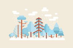 How to Create a Flat Winter Scene in Adobe Illustrator by Yulia Sokolova, In this tutorial we'll be creating a cozy winter forest scene in a trendy flat style. We'll be using various basic shapes and Pathfinder operations of Adobe. Illustration Design Plat, Winter Illustration, Adobe Illustrator Tutorials, Photoshop Illustrator, Effects Photoshop, Adobe Photoshop, Graphic Design Tutorials, Graphic Design Inspiration, Conception Web