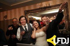 Chris Garrow with the Bride and Groom!  #UFDJ #NJWeddingDJ #NJProfessionals