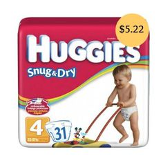 Huggies Diapers $5.22 at Walmart and More Store Deals