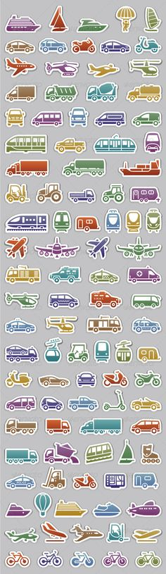 104 Transport icons set, retro colors — Photoshop PSD #car #symbol blue • Available here → https://graphicriver.net/item/104-transport-icons-set-retro-colors/5817291?ref=pxcr