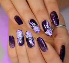 On Google+ ♥❤♥GORGEOUS 'PURPLE MANI' NAIL-ART by Ophélie of 'Tartofraises' ♥❤♥ & shared by Miray Maria 4 'Everyone Who Loves PurPle' in - 'We ♥ Nail Art community'♥❤♥