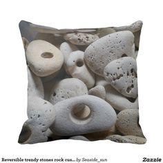 Reversible trendy stones rock cushion