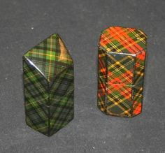 A late 19th Century tartanware needle box of rectangular form with canted corners, the lid painted with a scene of 'Loch Katrine' above 'McBeth' tartan, together with a late 19th Century tartan ware needle box decorated with the 'Gordon' tartan.