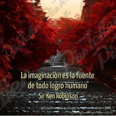 """La imaginaciòn es la fuente de todo logro humano""""sir ken robinson"""
