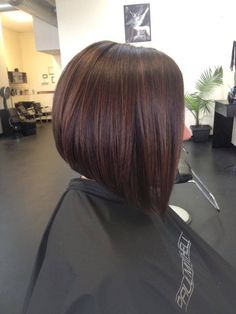 medium a line bob haircut with low lights - Yahoo Image Search Results