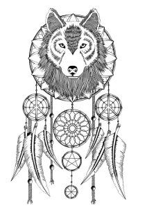 Adult Coloring Pages: Dreamcatcher 2