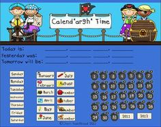 I have created an interactive pirate themed math calendar that can be used on the Smart Board. I love using my Smart Board for calendar time, becau...