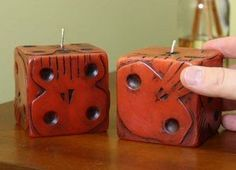 Oogie Boogie Dice Candle Set