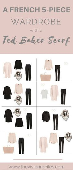 A Ted Baker Scarf-Based French 5-Piece Wardrobe