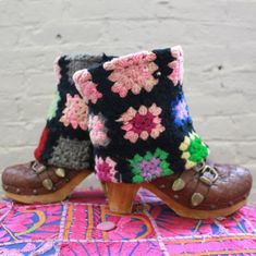 Colorful Granny Square Boot Covers