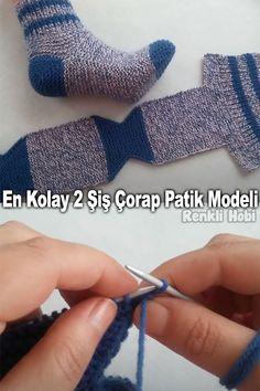 Beginner Knitting Patterns, Easy Knitting Projects, Knitting For Beginners, Crochet Patterns, Lace Knitting, Knitting Stitches, Knitting Socks, Knit Crochet, Kreative Jobs