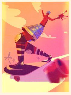 Dogtown - A skateboard illustration by Samuel Markiewicz #illustration #sport #skateboard #skate #vintageposter #illustrator #procreate Skateboard, Paris, My Works, Vintage Posters, Surfboard, Illustration, Vectors, Fun Facts, Surfing