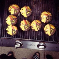"""Philip Pritchard @ keeperofthecup tweeted this unbelievable photo of Chicago Blackhawks hamburgers:  """"Fans can do this when their team wins the #stanleycup. #chicagoblackhawks"""""""