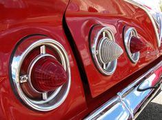 5 x 7 print Classic Car red tail light photo with by PlatcatDesign