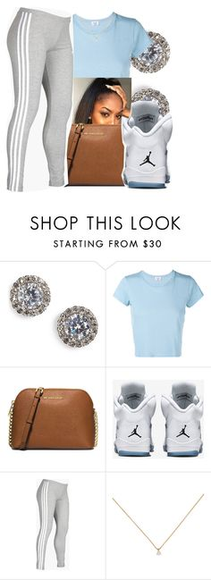 """7/18/16"" by lookatimani ❤ liked on Polyvore featuring Nadri, RE/DONE, MICHAEL Michael Kors, Retrò and adidas"