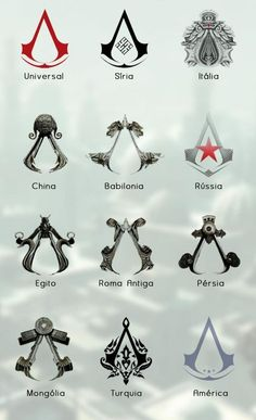 Know your Assassins Creed symbols Assassins Creed Tattoo, Arte Assassins Creed, Assassins Creed Odyssey, Assassins Creed Origins, Assassin Logo, Assassins Creed Quotes, Skyrim, Deutsche Girls, Assasins Cred
