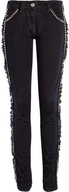 Stylish stud detailed jeans in black | Hot now | ISABEL MARANT JEANS #kidstylin #kidspiration #wishthiscameinkidssize