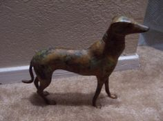 Vintage Metal 8 Inch  Whippet Grey Hound  by doyourememberwhen, $80.00