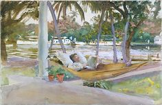 John Singer Sargent (American, 1856–1925). Figure in Hammock, Florida, 1917.  The Metropolitan Museum of Art, New York. Gift of Mrs. Francis Ormond, 1950 (50.130.57)