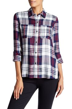 Dion Plaid Roll Sleeve Shirt