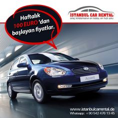 Haftalık 100 EURO'dan başlayan fiyatlar ile Ekonomik Araç Kiralama Geniş araç seçeneği ile ihtiyacınız olan aracı kolayca kiralayın! Bize Ulaşın : +90 216 611 81 88 Whatsapp: +90 542 476 13 45