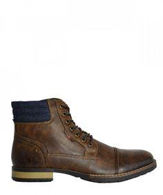 f13d5c4ed7f Ανδρικά αρβυλάκια καφέ με κορδόνια EL0601R #ανδρικάμποτάκια #μοδάτα #ρούχα  #παπούτσια #στυλ